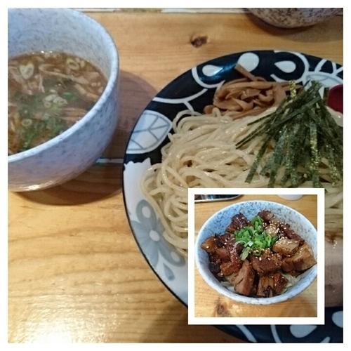 「ゆず香る塩つけ麺+日替り丼」@大公の写真