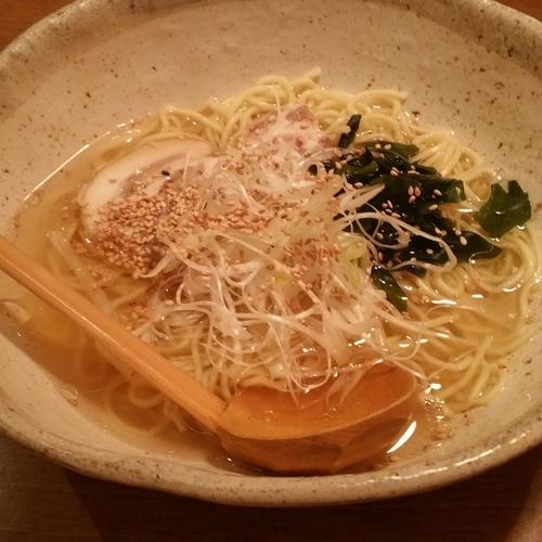 「白だしラーメン(650円・夜価格)」@味遊酒房 花ひらいての写真