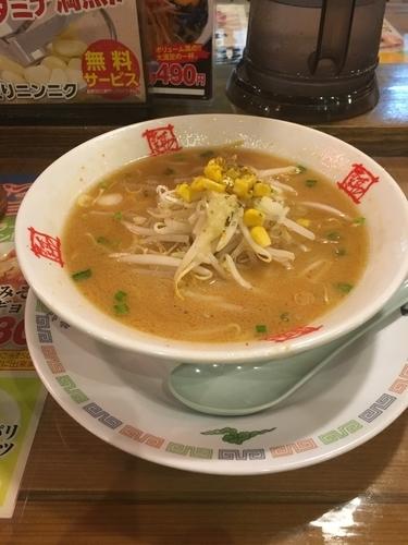「みそラーメン(無料ライス、680¥)」@おおぎやラーメン 安中店の写真