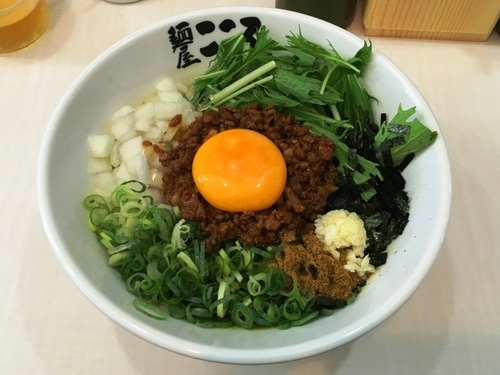 「チーズ入りカレー台湾まぜそば 940円」@麺屋こころ 金沢八景店の写真