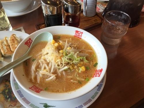 「味噌ラーメン+ランチ餃子セット」@おおぎやラーメン 前橋西片貝店の写真