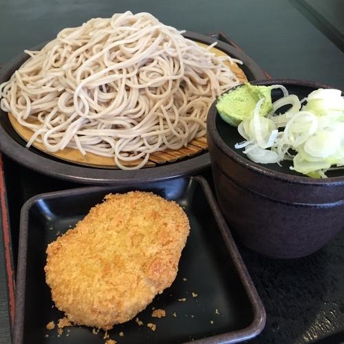 「大もり(¥420)+コロッケ(クーポン)」@ゆで太郎 東邦医大通り店の写真