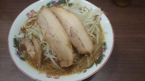 「二郎系ラーメン・野菜少なめ+カレー」@ラーメン酒場 大黒家の写真