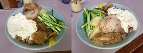 「すごい冷やし中華(麺400g)+豚マシ」@立川マシマシ 足利総本店の写真