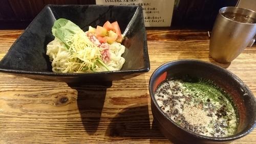「【夏麺第五弾】冷製 焙煎ベーコンの和えつけ麺」@麺場 浜虎 横浜店の写真