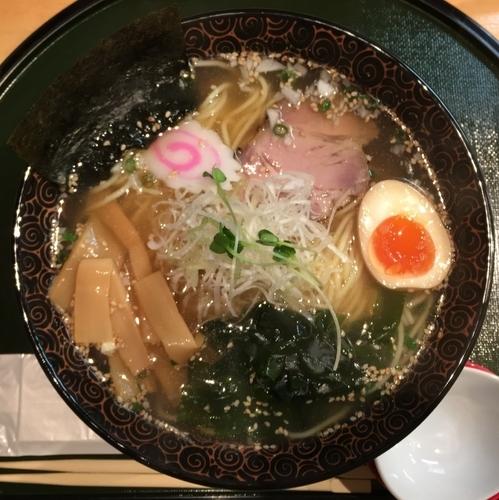 「塩ラーメン800円+ミニチャーシュー丼380円」@麺屋中ひらの写真