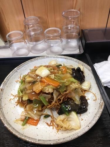 「かた焼きそば 780円」@中国料理 銀扇の写真