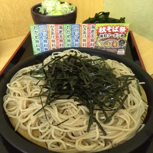 「ざる(¥370)+わかめ(クーポン)」@ゆで太郎 大森入新井店の写真
