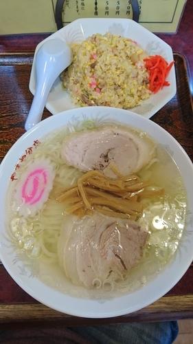 「塩ラーメン&チャーハン(Aランチ) 950円」@やまや食堂 分店の写真