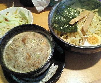 「豚骨魚介つけめん 730円」@焦がしねぎらーめん 葱次郎の写真