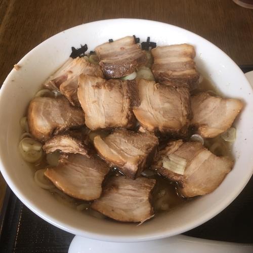 「塩チャーシュー麺大盛り」@会津喜多方ラーメン 蔵太鼓 茨城麻生店の写真