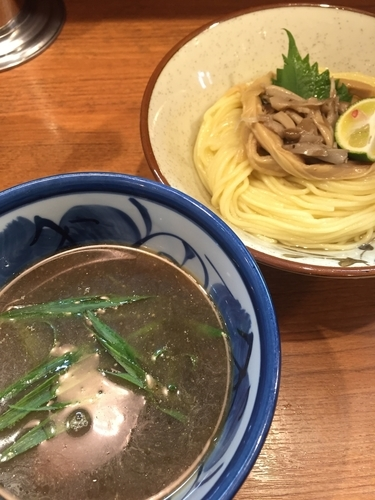 「【限定】秋刀魚つけそば」@煮干中華そば 鈴蘭 中野店の写真