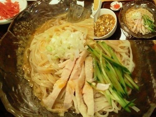 「Bランチ(バンバンジー麺とミニ麻婆丼) 700円」@マルイチ 神田軒の写真
