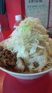 「小ラーメン とろ~り玉子+タマネギ+鶏ほぐし」@麺屋 桐龍の写真