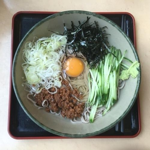 「鶏そぼろの和風まぜそば ¥480」@名代 箱根そば 成城学園前店の写真