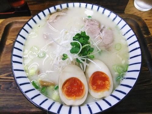 「軍鶏塩白湯ラーメン(800円)」@軍鶏ラーメン美幸の写真