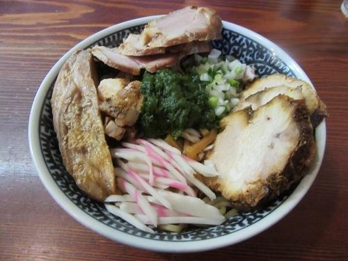「生海苔まぜそば(850円)+肉増し+小イクラ丼」@良温(Ra-on)の写真