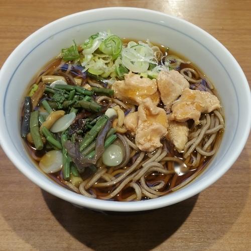 「とり肉山菜そば」@川村屋の写真