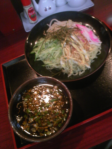 「つけ麺700円」@中華料理 楽々軒の写真