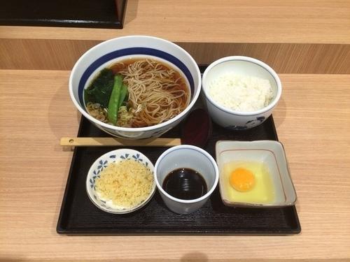 「モーニング¥400」@そば処 信州屋 新宿南口店の写真