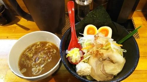 「醤油炊き しろぼし味玉つけ麺(中)」@つけ麺 しろぼしの写真