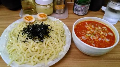 「辛味噌つけ麺850円+大盛100円」@らぁ麺 つねの写真