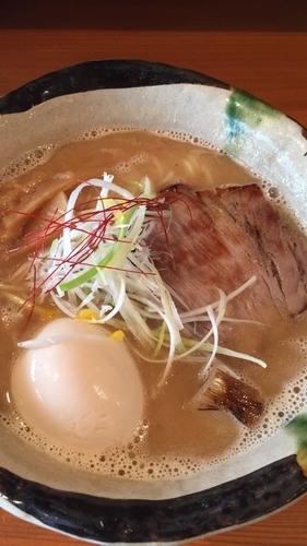 「Wスープ味玉ラーメン」@麺道 ともよし 東三国店の写真