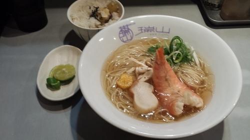 「【限定】松茸の中華そば(栗ご飯付き)1380円」@中華蕎麦 瑞山(ZUIZAN)の写真
