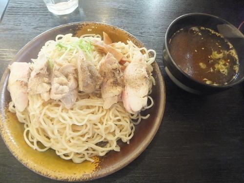 「鶏塩焼きつけ麺980円(ぱどクーポンで780円)」@らーめん 一真堂の写真