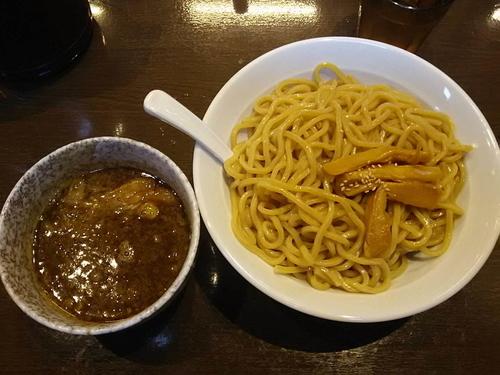 「濃厚つけ麺800円」@濃厚つけ麺 茜堂の写真