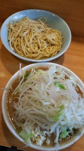 「たまごかけつけ麺(限定)」@ラーメン二郎 八王子野猿街道店2の写真