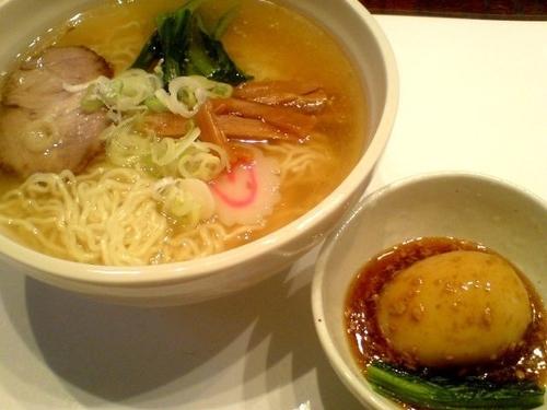 「今味・汐味(750円)+特製味玉(160円)」@麺や 菜かむらの写真