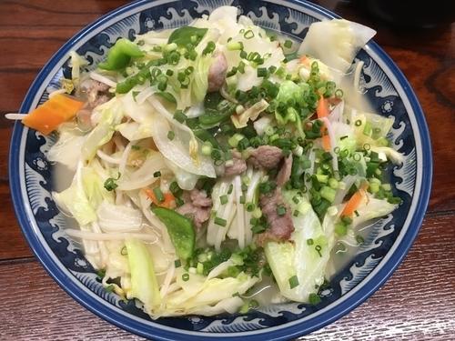 「野菜そば 大」@明石食堂の写真