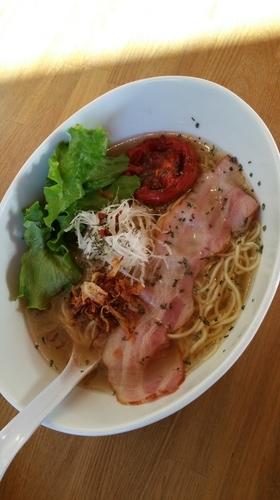 「ローストトマトカフェソバ」@湖麺屋 Reel Cafeの写真
