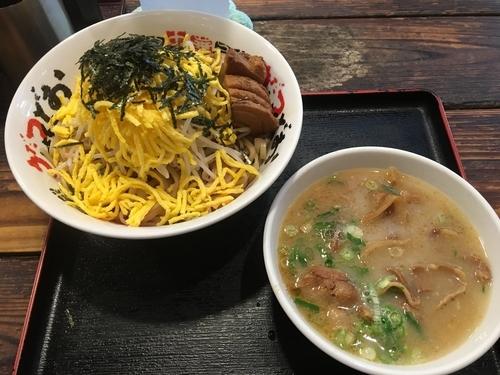 「全部入りつけ麺 大盛り 1100円」@うだつ食堂の写真