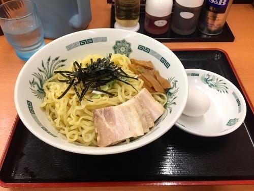 「汁なしラーメン(油そば)大盛」@日高屋 西武新宿前店の写真