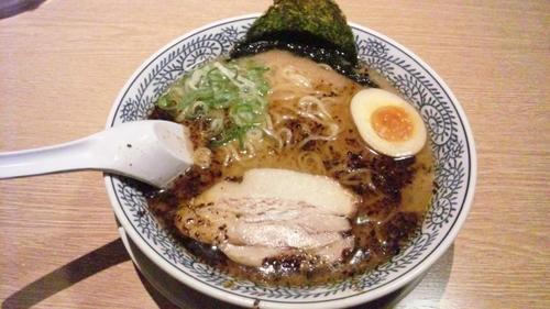 「醤油とんこつラーメン(黒)」@丸源ラーメン 明石店の写真