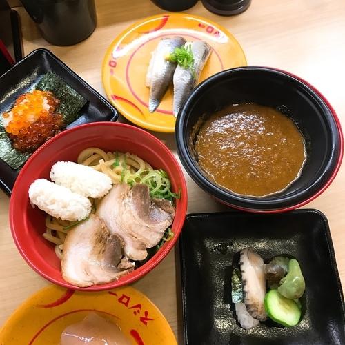 「鯖系カレーつけ麺」@スシロー ミューザ川崎店の写真