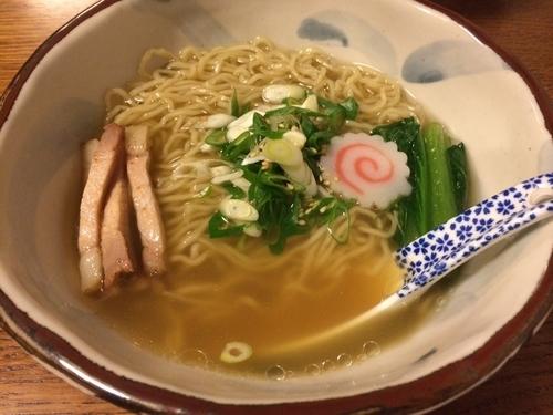 「塩煮干拉麺」@拉麺酒房 熊人の写真