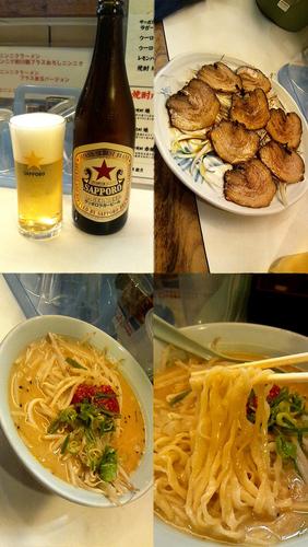 「『味噌 赤玉ボンバー(¥750)』」@麺者 侍の写真