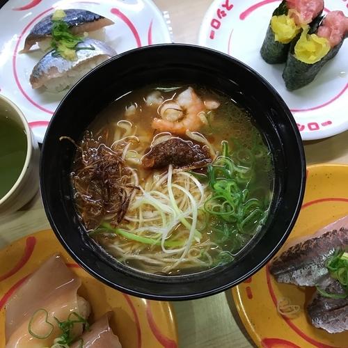 「濃厚えび味噌ラーメン」@スシロー ミューザ川崎店の写真