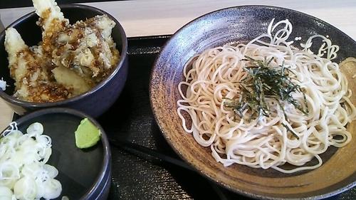 「とり舞茸天丼セット(冷)」@ゆで太郎 大宮三橋店の写真