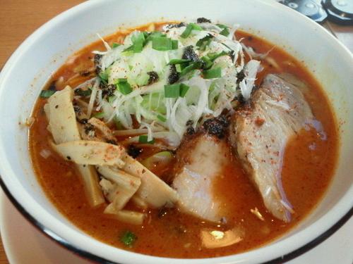 「シビカラ味噌麺(辛さ増し、シビレ増し) 702円」@大志軒 福島泉店の写真