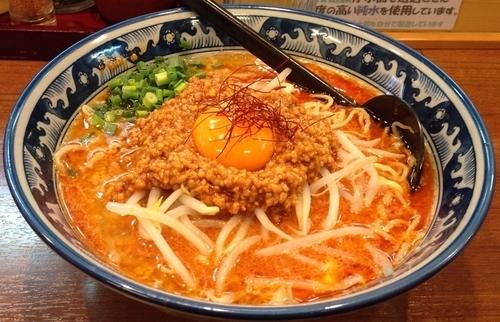 「肉味噌辛し麺+背脂ニンニク+ライス(並)」@ゆなみ屋の写真