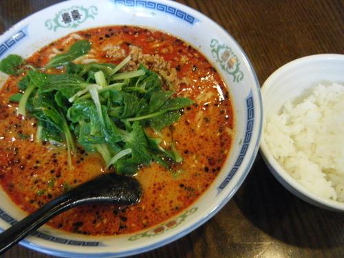 「担々麺(辛く)定食880円」@上海料理 順福園の写真
