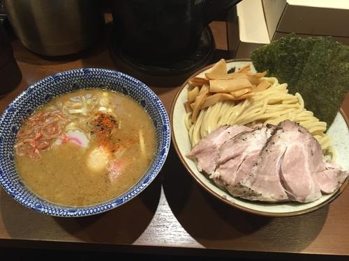 「特製海老塩つけ麺(1050円)」@俺の麺 春道の写真