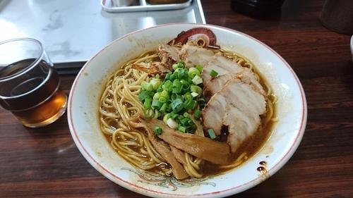 「中華そば ダブル    ライス」@うらしま食堂の写真