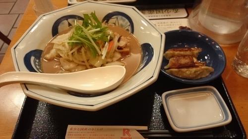 「海鮮ちゃんぽん(味噌)+Bセット」@長崎ちゃんぽん リンガーハット 甲府向町店の写真