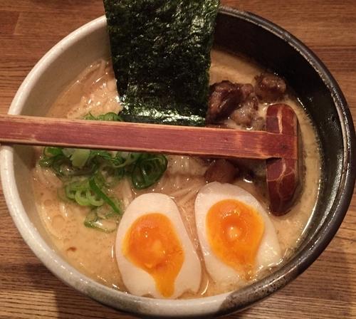 「らーめん・鶏+味玉(¥780+¥100)」@吉田製麺店の写真