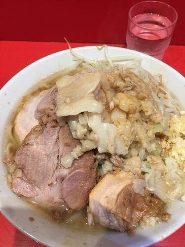 「小ラーメン 少なめ ニンニク、アブラ」@ラーメン二郎 西台駅前店の写真